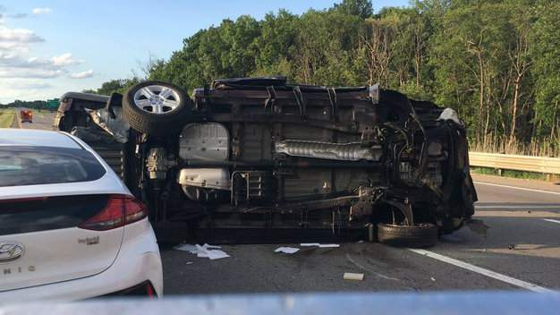 Michigan State Police and Canton police are investigating a fatal rollover crash that involved multiple vehicles.