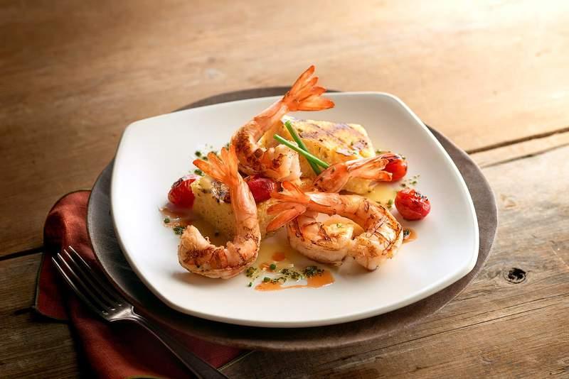Cheddar jalapeño grits and shrimp.