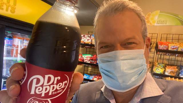 Jason with Dr,Pepper
