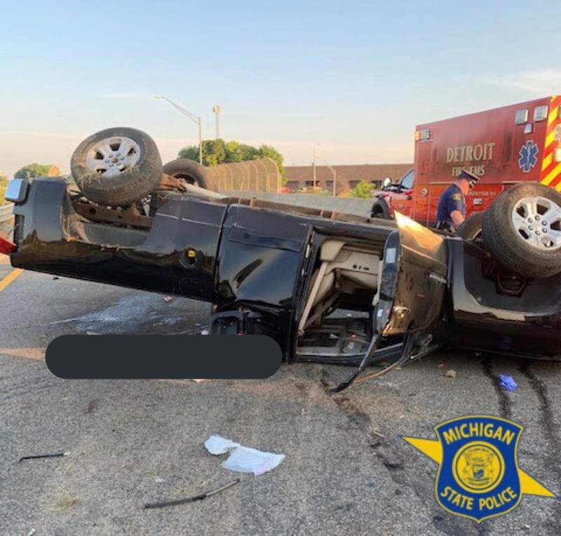 A pickup truck driver was killed Aug. 24, 2020 when his vehicle rolled on westbound I-96 near Davison in Detroit.