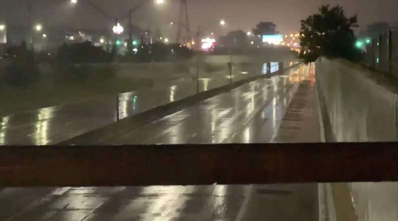 M-59 closed for flooding on Aug. 28, 2020.