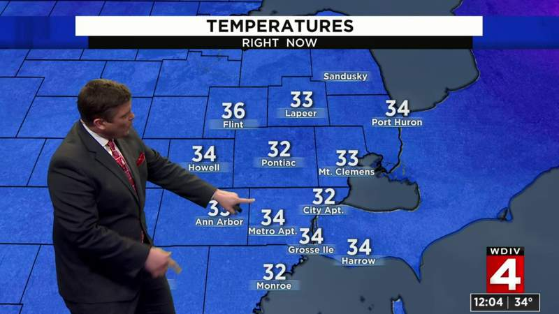 Metro Detroit weather forecast: Sunshine this afternoon with temperatures in the upper 30s