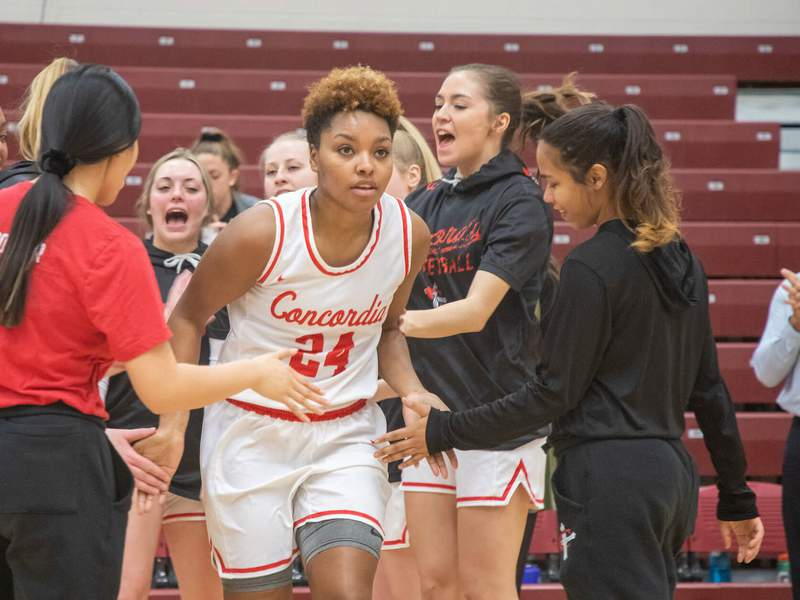 CUAA Women's Basketball players.