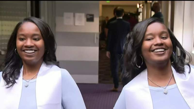 Twin sisters at top of their class at Mumford High School