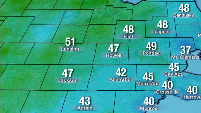Metro Detroit weather: Clear, chilly Sunday night then warm, March 21, 2021, 11 p.m. update