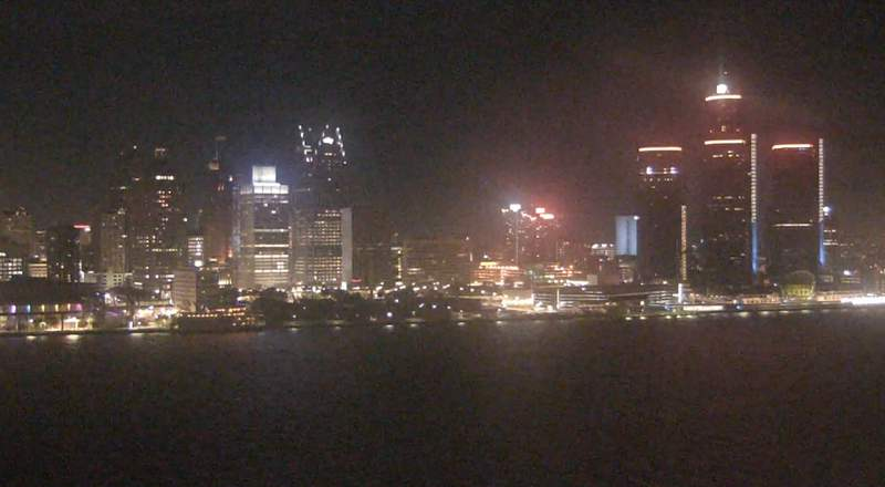 View of Detroit from the Windsor sky camera on Nov. 2, 2020 at 8:30 p.m.