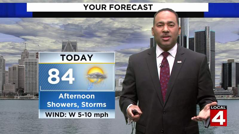 Metro Detroit weather: Storms possible Sunday afternoon