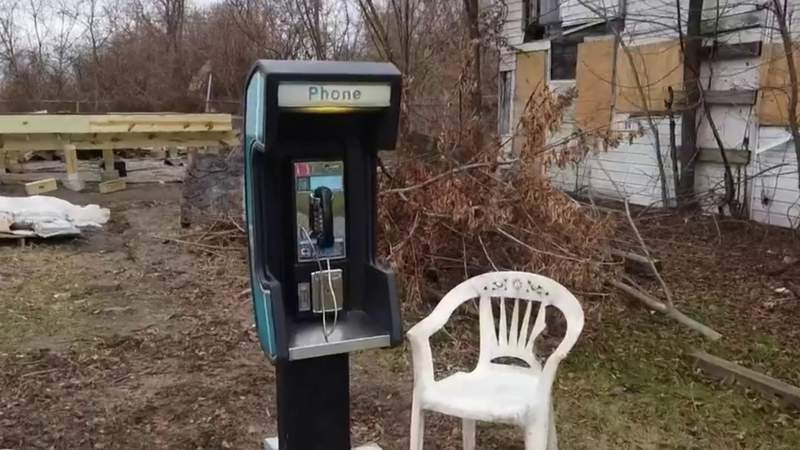Uniquely Detroit: Futel installs next pay phone in Detroit
