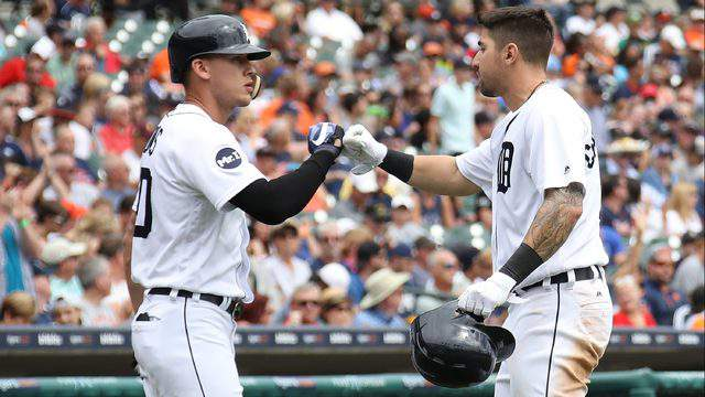 Nicholas Castellanos and JaCoby Jones should be two of the Detroit Tigers' most exciting starters this season, though for very different reasons. (Gregory Shamus/Getty Images)
