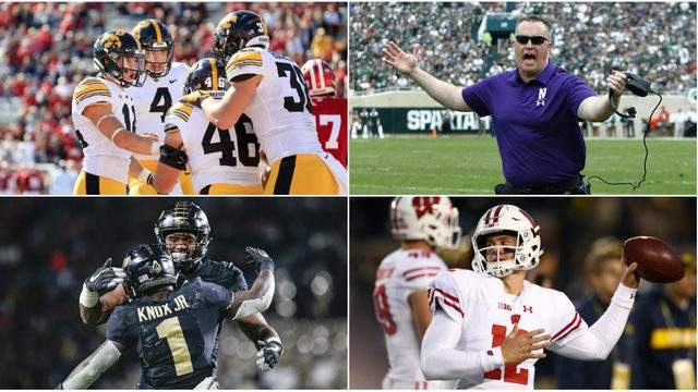 Four teams are still in contention for the Big Ten West Division title. (Getty Images)