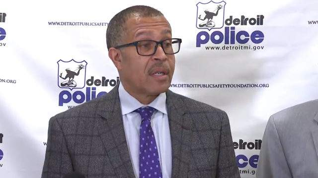 Detroit Police Chief James Craig speaks at a news conference on Nov. 14, 2018. (WDIV)