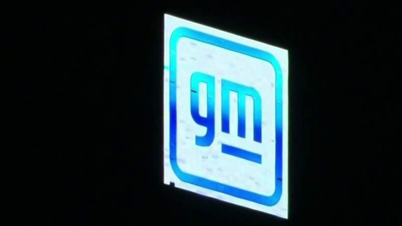 New GM logo debuts atop Ren Cen in Detroit