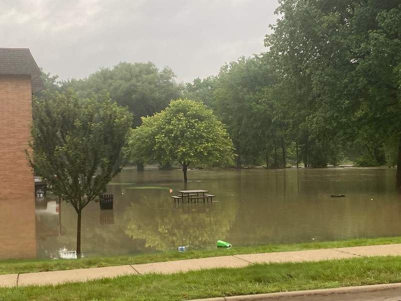 Flooding at a park in Dearborn