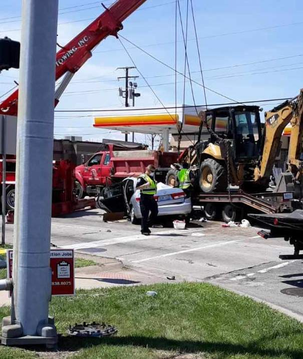 The child's mother and driver of the dump truck are expected to survive. Photo courtesy of Wendy Nickles
