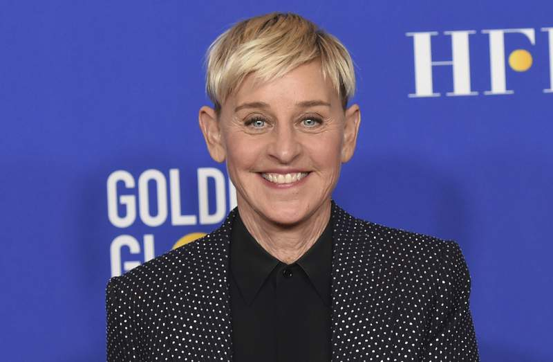 FILE - Ellen DeGeneres poses in the press room at the 77th annual Golden Globe Awards on Jan. 5, 2020, in Beverly Hills, Calif. DeGeneres says she'll be ready to talk when her daytime show returns this month after a staff shake-up prompted by allegations of a toxic workplace. I cant wait to get back to work and back to our studio. And, yes, were gonna talk about it, DeGeneres said in a statement announcing the show's Sept. 21, 2020, start of its 18th season. (AP Photo/Chris Pizzello, File)