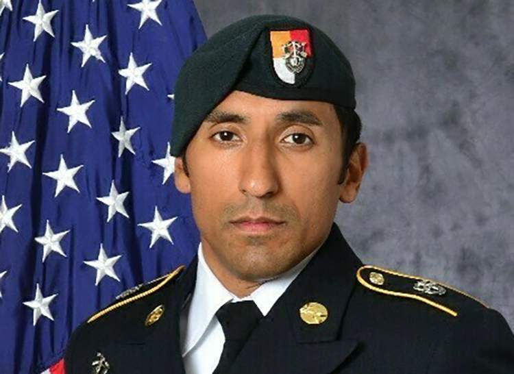 FILE - This undated photo provided by the U.S. Army shows U.S. Army Staff Sgt. Logan Melgar Green Beret, who died from non-combat related injuries in Mali in June 2017. Opening statements are set to begin Wednesday June 9, 2021, for the trial of a U.S. Marine who is charged in the hazing death of the U.S. Army Green Beret in Africa. Mario Madera-Rodriguez is the last of four American service members to face a military court-martial in the death of Logan Melgar. (U.S. Army via AP, File)