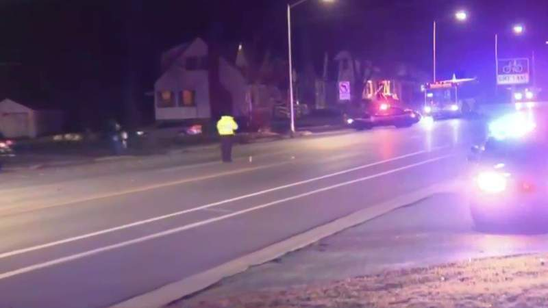 A woman was struck by a vehicle while crossing North Perry Street on Dec. 7, 2020 in Pontiac.