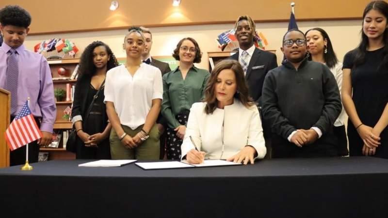 Michigan Gov. Whitmer signs $17.1 billion school budget