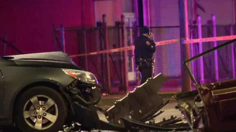 Suspect killed after driving through crime scene, exchanging gunfire with police
