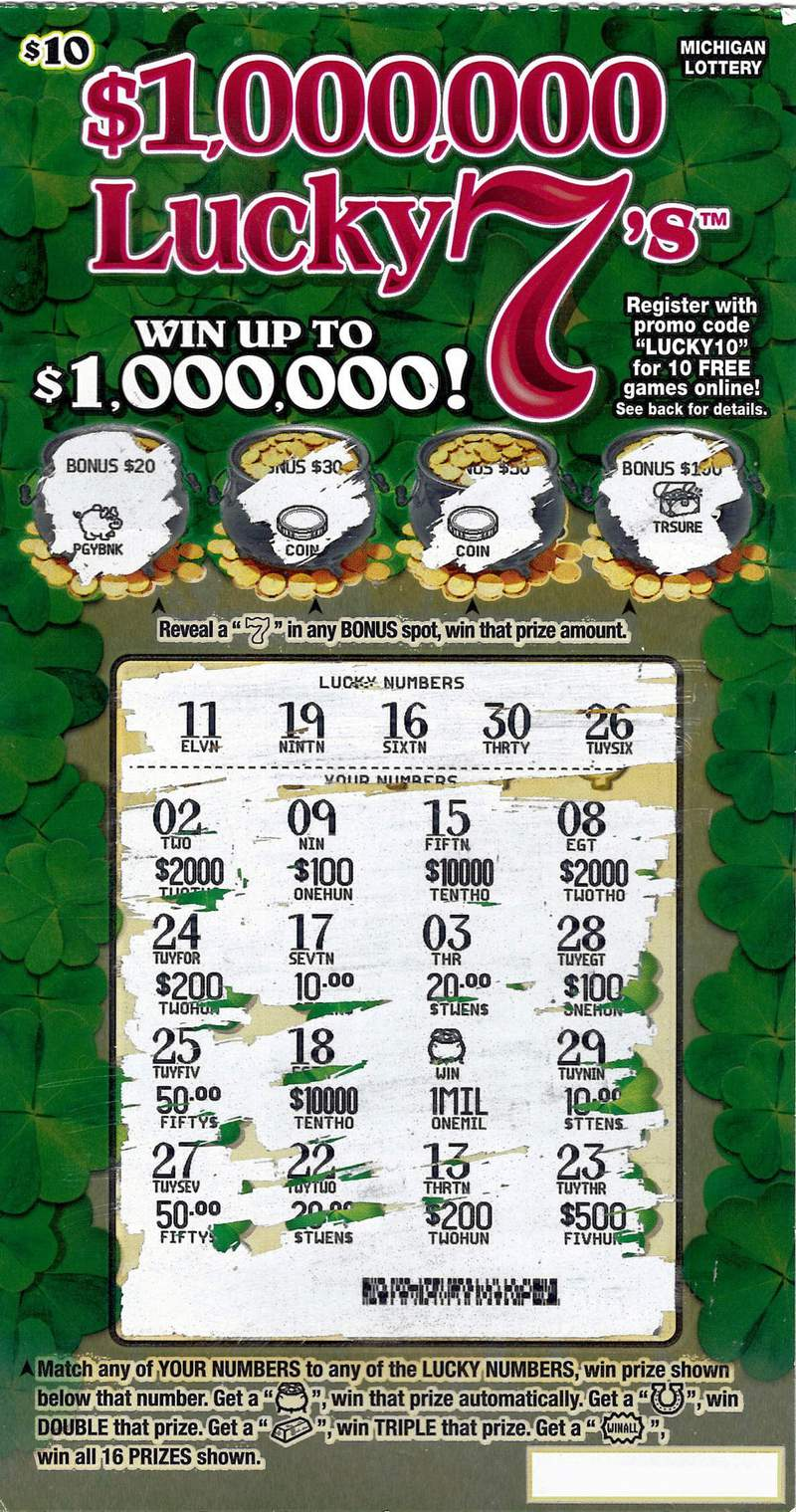 """An Oakland County man calls winning $1 million playing the Michigan Lottery's $1,000,000 Lucky 7's instant game a """"true blessing."""""""