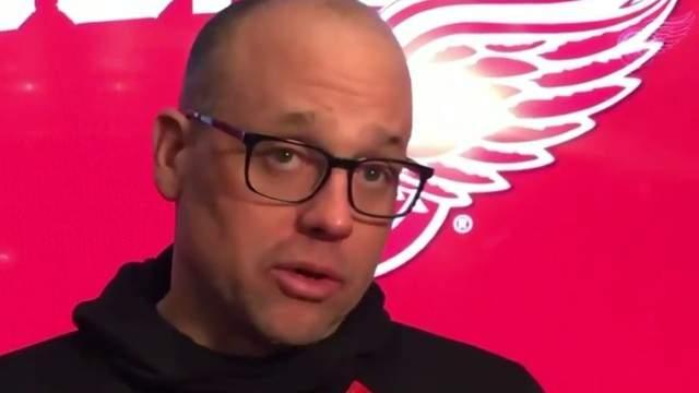 Detroit Red Wings coach Jeff Blashill