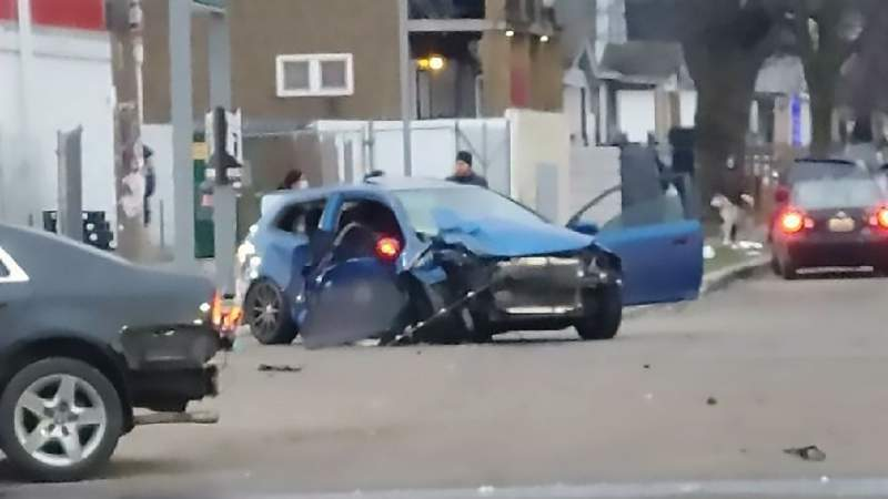 Detroit father seriously injured after drag racing vehicles crash into his car, family says