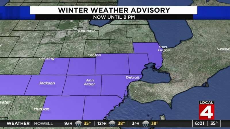 Winter weather advisory issued for Metro Detroit