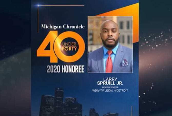 WDIV Local 4 report Larry Spruill honored in Michigan Chronicle 40 under 40