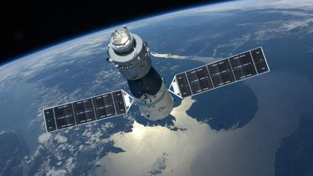 Illustration of China's 8-ton Tiangong-1 space station (Credit: CMSE / China Space Engineering Office)