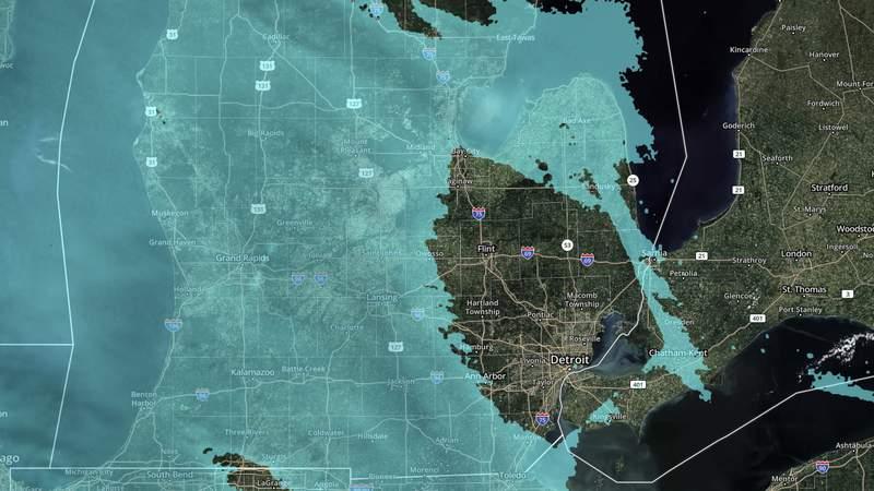 The radar at 10:30 p.m. on Jan. 17, 2020.