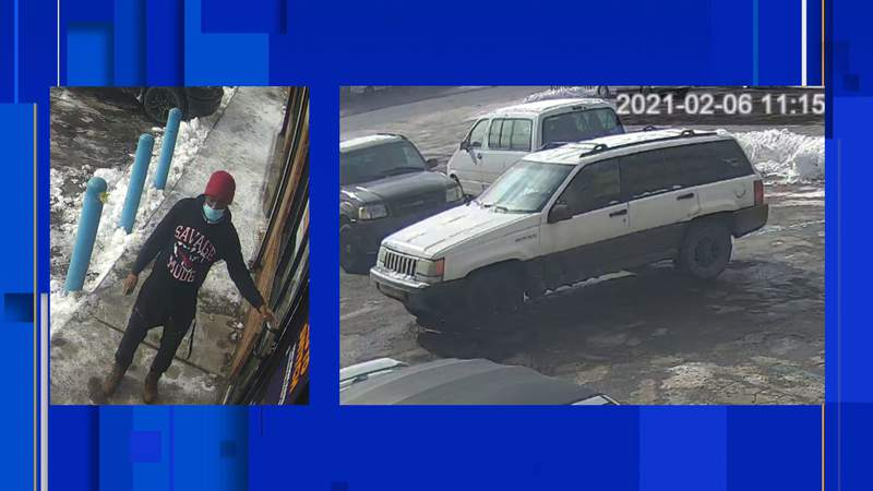 Police are searching for a man who they said assaulted a 69-year-old man on Feb. 6 on Detroit's east side.