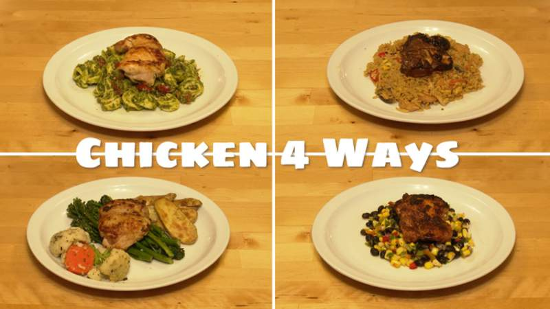 Chicken 4 ways with Michelle Oliver Live in the D