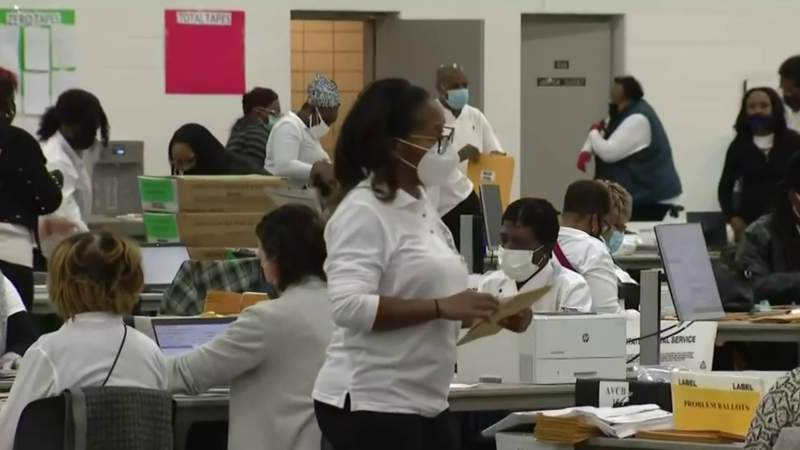Election workers describe counting process inside TCF Center