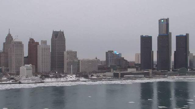 View of Detroit from the Windsor sky camera Jan. 22, 2019 at 4:46 p.m.