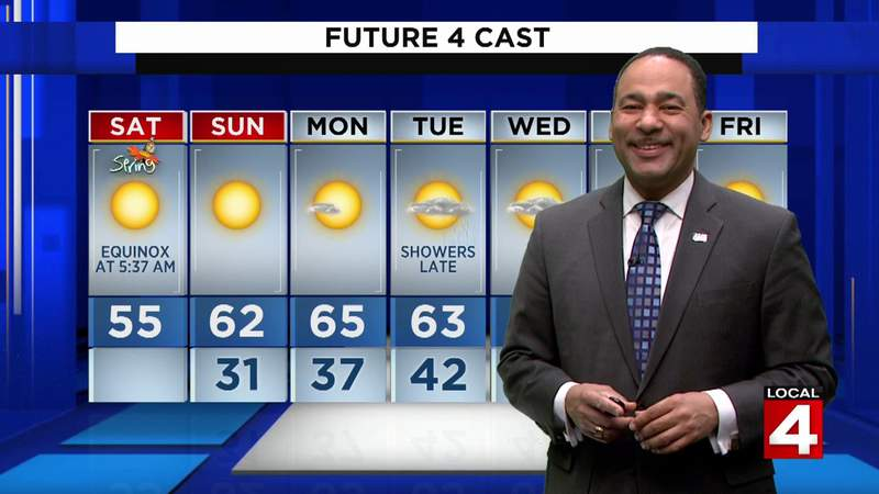 Metro Detroit weather: Mild afternoon with highs in the 50s