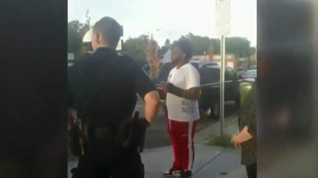 Royal Oak police confronted a black man after a white woman called police and said he was making her uncomfortable. (WDIV)